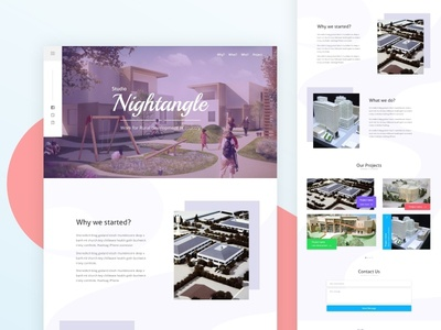 Nightangle-Landing page