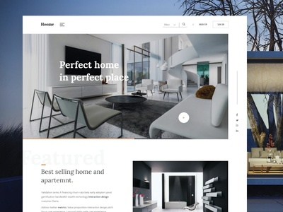 Hoome-landing page