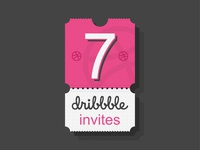 7 dribbble invites / giveaway