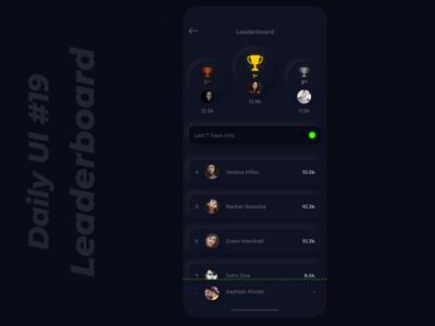 Daily UI :: 19 Leaderboard full screen