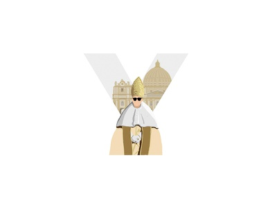 Y is for The Young Pope vatican pope theyoungpope 36daysoftype-05 illustration animation motion design type 36daysy 36days 36daysoftype
