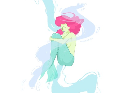 Mermaid on mermay sirena pastelcolor digitalart drawing artistsoninstagram illustration mermaid mermay2018 mermay