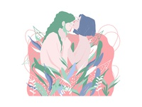 A kiss into the flowers.