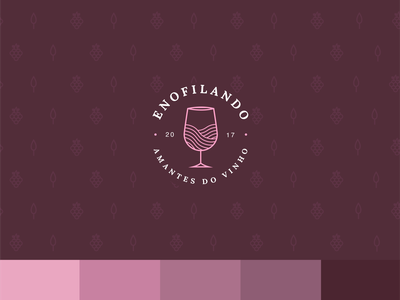 Logo/Branding Project for Enofilando branding pink design de logo logotipo logo design wine brand wine logo wine design de marca design brand identity brand brand design marca logo