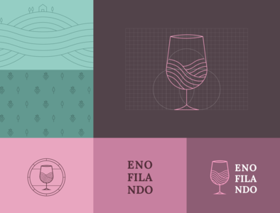 Logo/Branding Design — Enofilando visual identity identidade visual grid design de marca logotipo logo designer logo design wine wine logo logo de vinho logos design branding brand identity brand design brand marca logo