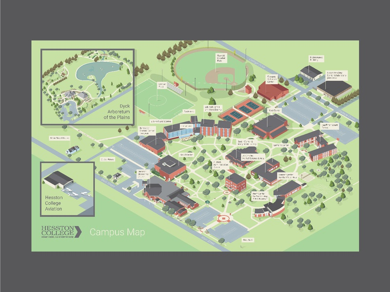 Lander University Campus Map.Hesston College Map By Aaron Miller Dribbble Dribbble