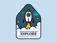 Rocket Birthday Invite
