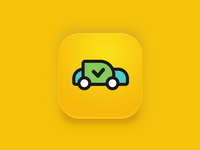 Application icon for Rent a Ride car rental service