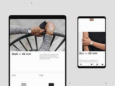 HARPER & BROOKS swiss watches typography fashion pure grid site desktop web minimal ux ui clean