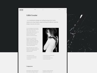 LILITH COCAINE branding minimalism layout concept typography e-commerce exploded fashion digital clean pure interaction grid design desktop site web minimal ux ui