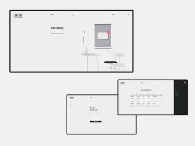 LILITH COCAINE ecommerce branding swiss layout concept minimalism e-commerce fashion digital pure clean interaction grid design desktop site web minimal ux ui