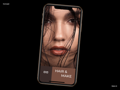 HAIR & MAKE graphic design fashion clean minimalism web design typogaphy product design mobile branding graphic interaction grid design site minimal web ux ui