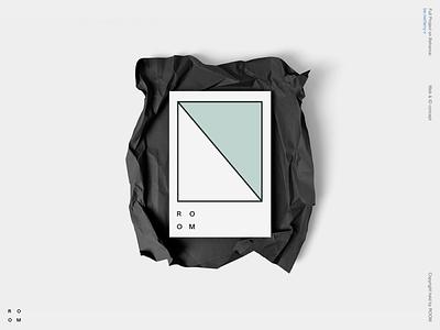 ROOM concept ecommerce identity clean minimal design site typography branding logo