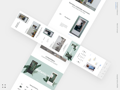 ROOM layout interface product business ecommerce typography clean grid desktop design site web minimal ux ui