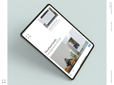 ROOM landing interface pastel ecommerce product corporate business layout tablet ipad typography interaction grid clean design site web minimal ux ui