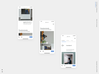 ROOM promo interface layout product corporate business typography ecommerce interaction grid clean design site web ux ui minimal