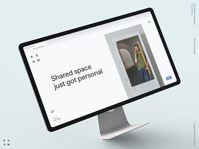ROOM whitespace website fullscreen layout ecommerce product corporate business landing grid interaction typography clean desktop design site web ux ui minimal