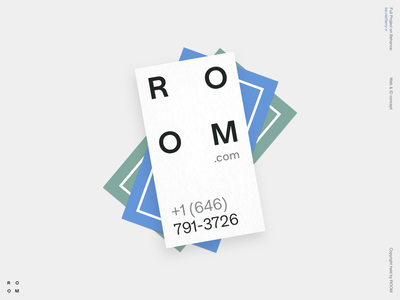 ROOM graphic design visual key logotype product corporate identity business card business typography branding logo illustration clean minimal
