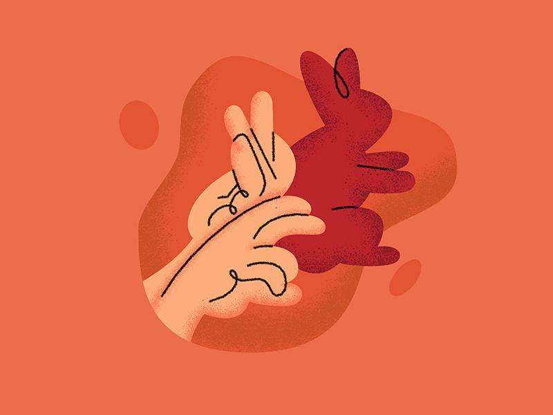 Hand shadow illustration vector illustration theatre shadows character design animal vector illustration