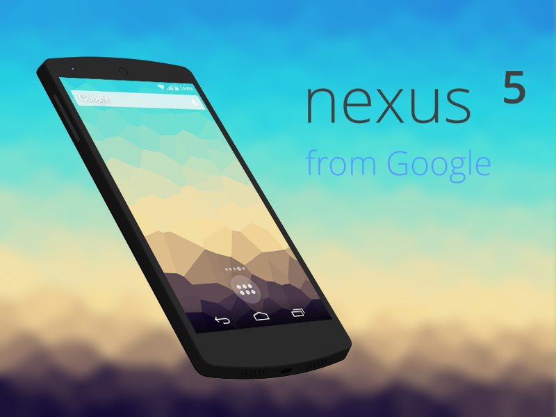Nexus5 Model nexus 5 model google mobile phone phone mobile nexus ui design photoshop china