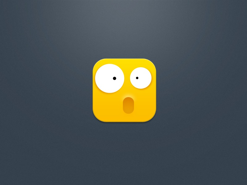Small Yellow Chicken yellow icon design smail big expression surprised, china