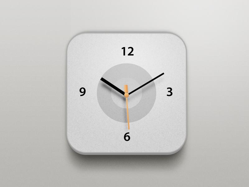 Clock icon china xiaowu design app clock apple orange white grey