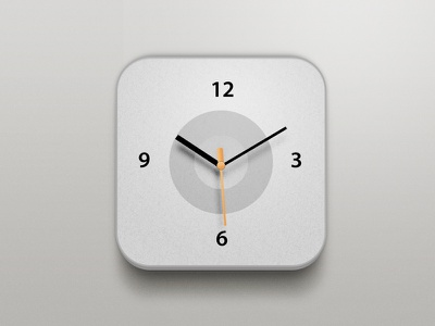 Clock icon china xiaowu design app clock apple orange white grey