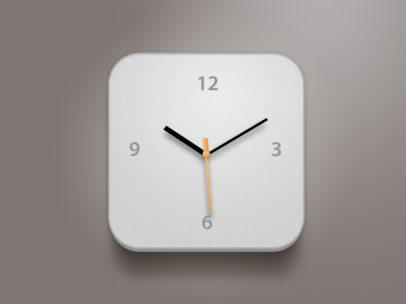 Clock Modification clock ui icon app apple china xiaowu white grey design