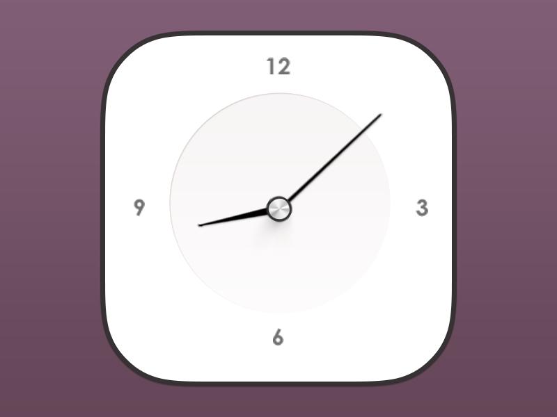 iOS7 Clock ios7 apple xiaowu china icon blace shite