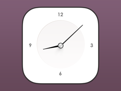 iOS7 Clock ios7 apple xiaowu china icon blace shite