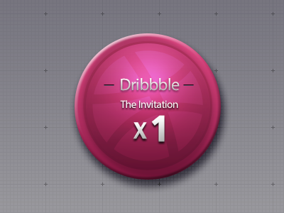 One Invitation join dribbble china invitation button round