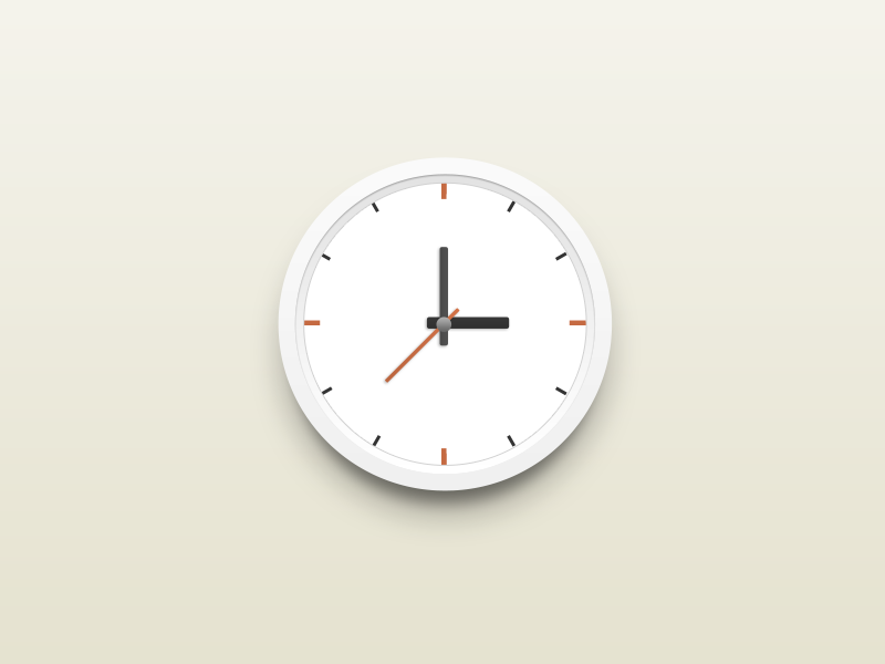 Round Clock round clock ui design china xiaowu