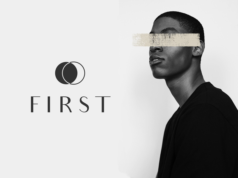 First logo design branding logo brown black and white photoshop graphic design product photography editorial facial cleanser first