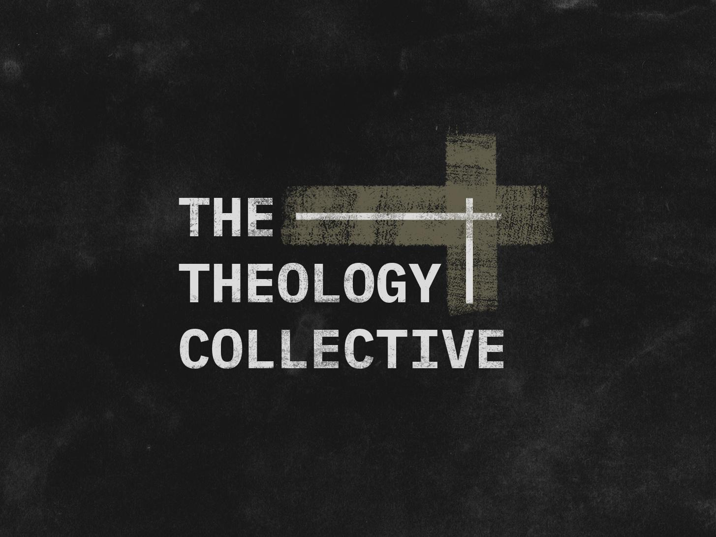 The Theology Collective logo vector design black and white branding line art type art typographic wordmark typeface sansserif minimal graphic design logo design branding logo design concept logo design