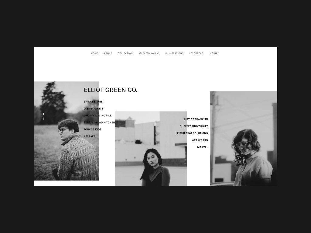 Personal Website - LIVE photoshop photography branding black and white typography graphic design design minimal website