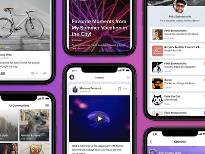 Holonis App design mobile ux ui