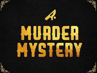 Murder mystery card game