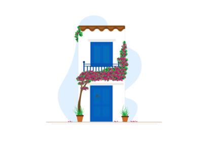 House Illustration_Santorini