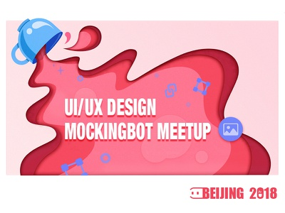 MockingBot User Meetup 2018 gradient red prototype meetup ux ui