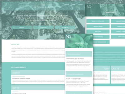 Naturopath Responsive Website Design mobile nature teal naturopath doctor health design web responsive