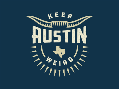 Austin City Badge texas city austin graphic design design logo branding