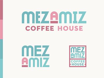 Mezamiz Round Three texas cafe coffee graphic design design logo branding