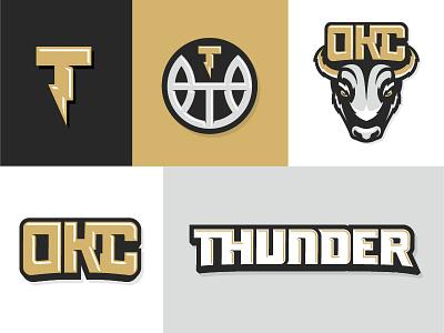 OKC Thunder Rebrand graphic design basketball logo rebrand sports