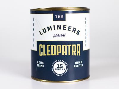Cleopatra Album-In-A-Can album packaging music graphic design design branding