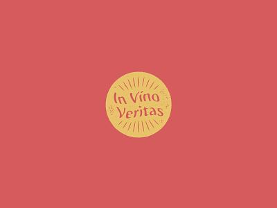 In Vino Veritas logo label wine illustration graphic design