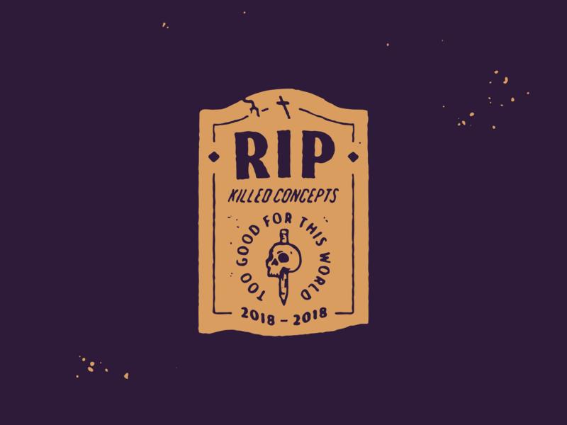 RIP vector illustration logo branding design graphic design