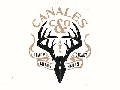 Antlers austin nature outdoors deer texas illustration branding logo design graphic design