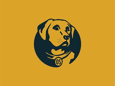 Ol' Yeller labrador dog illustration branding logo design graphic design