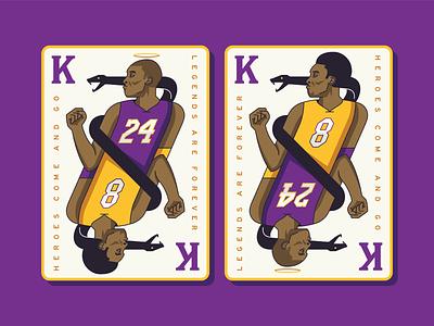 RIP Kobe playingcards basketball card sportsdesign basketball lakers kobe illustration design graphic design
