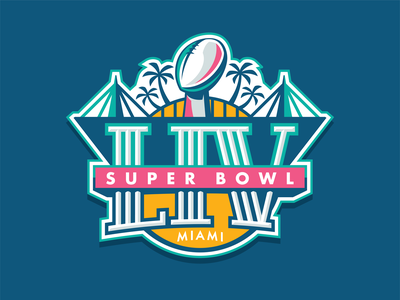 S*per B*wl LIV biggame nfl miami illustration sportsdesign superbowl branding logo design graphic design